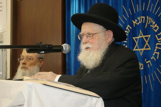 """הרב אברהם אלקנה שפירא זצ""""ל - צילום: ישיבת מרכז הרב"""