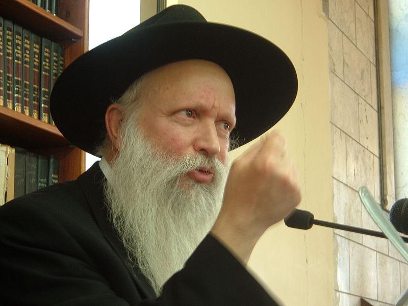 צילום של הרב גינזבורג - ייחוס: I, Melamed, ויקיפדיה